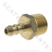 """1/2"""" MALE NOZZLE / NIPPLE SCREW IN PIPE CONNECTOR 8MM X 10MM LPG GAS HOSES"""