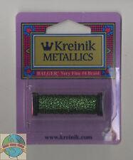 Kreinik Metallic Thread - 12Yd Spool of #5982 Forest Green VF #4 Braid