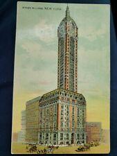 New York City, NY, Singer Building,   Vintage Postcard advertising card