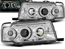 Headlights for AUDI 80 B4 91-96 Angel Eyes Chrome WorldWide FreeShip US LPAU29 X