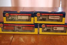 Athearn N Scale Lot of Semis Tractor Wedge Trailers Ford NIB Spartan Ringsby DHE