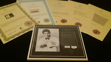 Bruce Lee Authentic Original Hair Lock w Shirt Certified Letters Authenticity