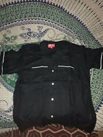 BRAND NEW AUTHENTIC Supreme Playboy Bowling Shirt Black SS17 size M
