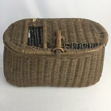 Antique Vintage Fresh Water Basket Weave Fishing Creel