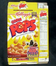 Kellogg's Corn Pops Flattened Cereal Box 1996 The Making of Star Wars Video