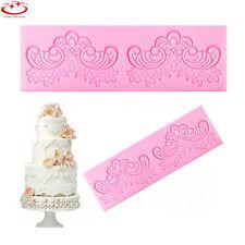 Flower Lace Silicone Fondant Mould Wedding Cake Decoration Mould Baking Tool