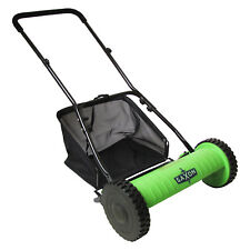 Saxon 40cm Push Cylinder Hand Lawn Manual 5 Blade PUSH REEL MOWER +Grass Catcher