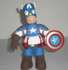 VERY RARE TOY MEXICAN FIGURE HOMER SIMPSON PARODY CAPTIAN AMERICA  AVENGERS