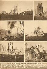 LAMPERNISSE BELGIQUE ARTICLE DE PRESSE DESTRUCTION EGLISE 1916