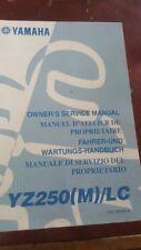 YAMAHA MOTORCYCLE SERVICE MANUAL YZ250 (M)