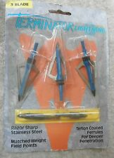 Game Tracker Broadheads Terminator Lightning Series 3 Blade Gtlt-3-3B