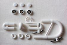 Tromba Plastic Bb Trumpet Valve Caps, Buttons & Slides Kit - WHITE