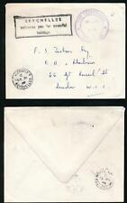 SEYCHELLES OFFICIAL PAID SECRETARIAT HANDSTAMP + BOXED 1960 UNSEALED MAIL