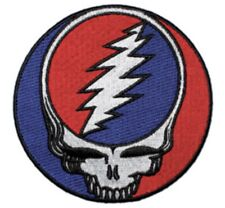 Grateful Dead Steal Your Face Embroidered Patch G003P Pink Floyd Hendrix