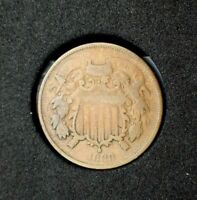 1868 Two Cent Piece~G~Good~Scarce Date~!