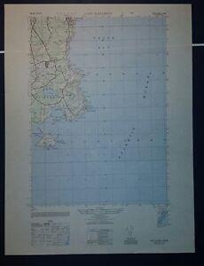 1940's Army topographic map Cape Elizabeth Maine -Sheet 6971 II SW Casco Bay