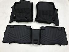 WeatherTech 03-09 Toyota 4Runner Front and Rear Floorliners - Black