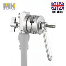 Metal Swivel Grip Head Bracket Clamp w/ Handle fr Studio Light Stand Boom Arm UK