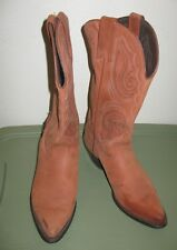 Capezio suede cowboy boots 7.5 B  women's western embroidered brown