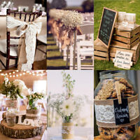 Lace Jute Burlap Hessian Ribbon Trims Tape Rustic Wedding Party Natural 9M UK
