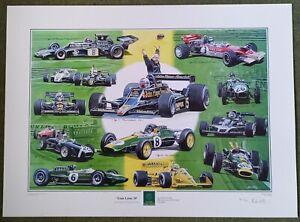 'Team Lotus 50' RARE print by Andrew Kitson