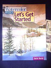 Watercolor Basics Let's Get Started Jack Reid Paperback Art Technique Book