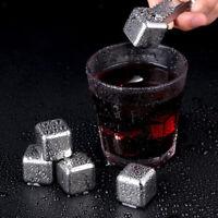 8 Pezzi Cubetti Di Ghiaccio In Acciaio Inossidabile Whisky Vodka Rocce Di Pietre