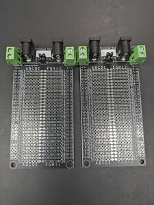 Black PCB Solderable Breadboards For Prototyping (Panel of 2)(Assembly Required)