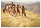 Dust of Many Pony Soldiers - by Howard Terpning -  giclee on canvas