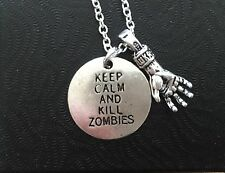 Keep Calm And Kill Zombies Necklace, Walking Dead, Horror, Zombie Army