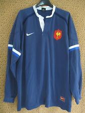 Maillot Rugby Equipe QUINZE de FRANCE Bleu Coton Nike Vintage FFR - XL