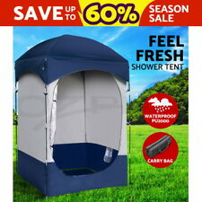 WEISSHORN Camping Shower Toilet Tent Outdoor Portable Change Room Ensuite
