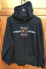 Panther Racing Hoodie SweatShirt Men's XL IRL Indy Cart Racing Black