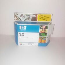New Genuine HP 23 Tri-Color Printer Ink Cartridges Twin Pack