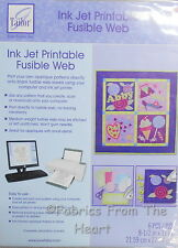 "Ink Jet Printable Fusible Web 6 Sheets 8 1/2""x11"" for Sewing Crafts Quilting"