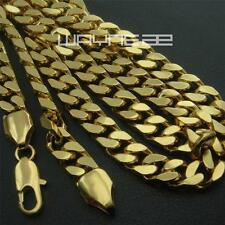 Men's 18K 18CT Yellow Gold Filled 60cm Lenght Curb Chain Necklace N251