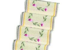 Stair Carpet Cream With Pink Rose 12th Scale for Dolls House