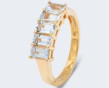 Harry Ivens IV anillo plata 925 doradas Aquamarine