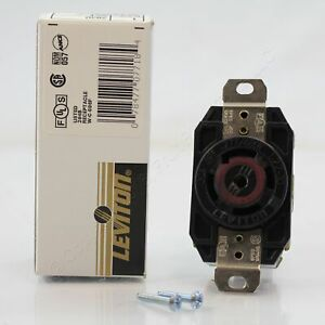 Leviton CRACKED NEMA L22-30R Turn Locking Receptacle 30A 277/480V 3ØY 2820-065