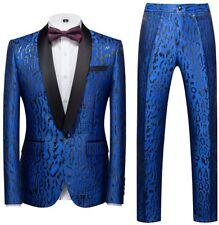 MOGU Mens 2 Piece Suit Slim Fit Shawl Lapel Wedding Prom Suits Blazer Tux (Suit
