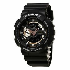 Casio GA110RG-1 Men's G-Shock Tough Analog & Digital Black Watch