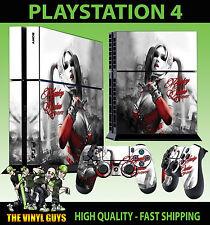 PS4 skin Harley Quinn Gotham fille ARKHAM CITY BATMAN AUTOCOLLANT + pad vinyle