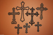(7)pcs,Vintage Look Cross Wall Decor, Cast Iron, Christian Home Decor,Cross Gift
