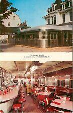 Postcard Colonial Diner Stroudsburg PA Steel Deco Streamline Mid-Century Modern