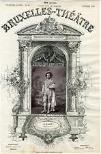 A. Delabarre, Bruxelles-Théâtre, M. Raoult, chanteur Vintage albumen Print T