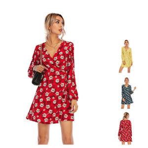 Fashion Dresses for Women Floral Print Ladies Womens Casual Beach Dress PlusSize