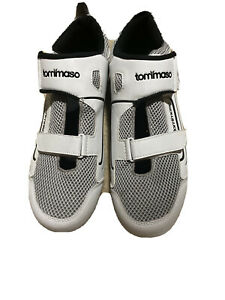 Tommaso Veloce 100 Triathlon Road Cycling Shoe Size 13 White