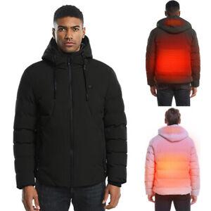 Men Electric USB Heated Vest Coat Jacket Warm Up Heating Pad Cloth Body Jacket