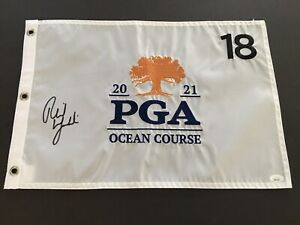 """PHIL MICKELSON Signed Authenic 2021 PGA Championship Flag, """" The Real Deal"""" JSA!"""
