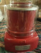 Cuisinart ICE-21 Red Frozen Yogurt Ice Cream & Sorbet Maker Works Nice electric